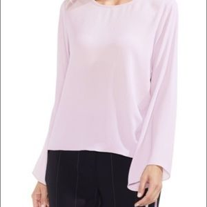 Vince camuto pale pink drawstring side blouse